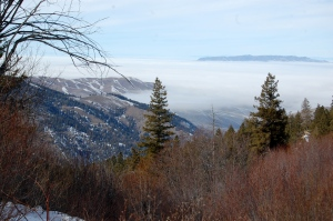 January inversion as viewed from the road to Bogus Basin
